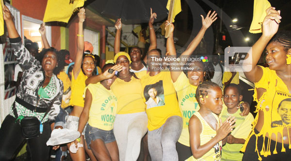 Celebrations in Castries Central. [PHOTO: Stan Bishop]