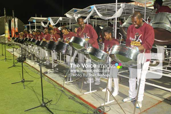 Image: As good as they were on the night, former Panorama champs, Pantime Steel Orchestra, were no match for WilrockLaborie Steel Orchestra last Friday. [PHOTO: Stan Bishop]