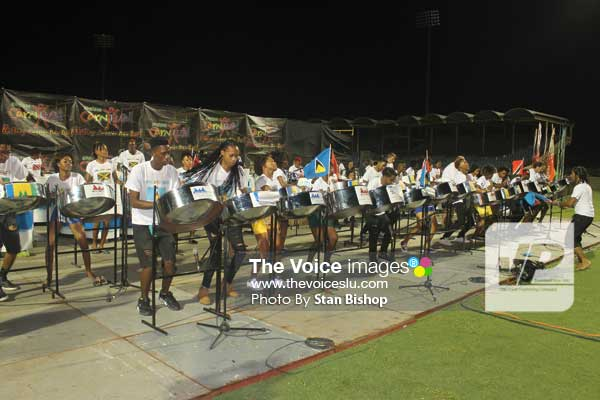 """Image: Wilrock Laborie Steel Orchestra's playing of their test piece, """"Who I Am (West Indian)"""", was simply enthralling from start to finish. [PHOTO: Stan Bishop]"""