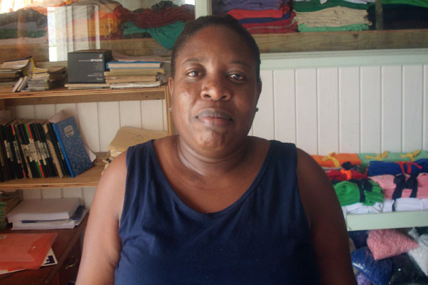 Image: Chairperson of the Vieux Fort Carnival Committee, Nyola Prescott