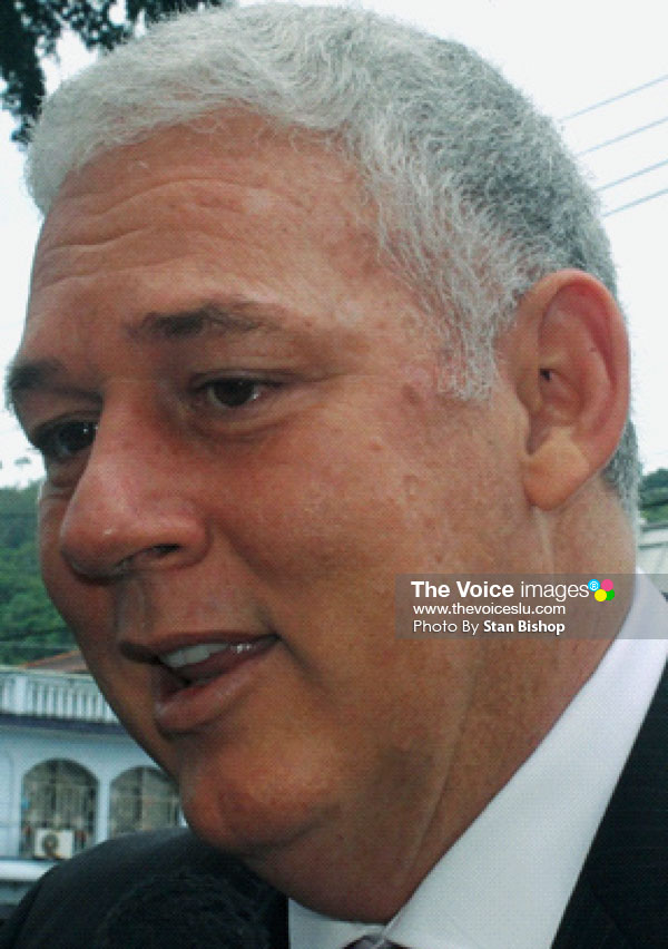 Image: Prime Minister Allen Chastanet. [PHOTO: Stan Bishop]