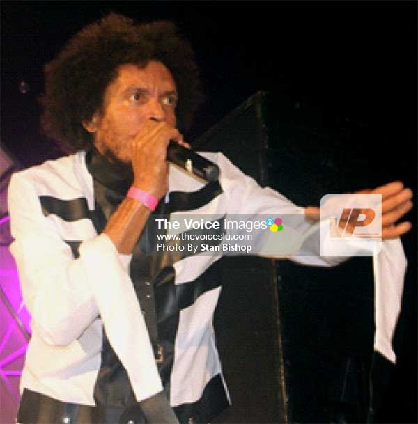 "Image: Islah Man performing ""MaadMaad"" at last Sunday's Soca Monarch. [PHOTO: Stan Bishop]"