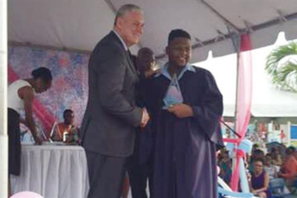 img: P.M. Chastanet at the Graduation ceremony