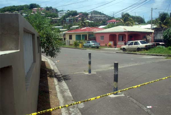 Image: Police cordoned off the area where the shooting took place