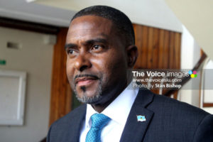 Image of Minister in the Ministry of Finance, Dr. Ubaldus Raymond [PHOTO: Stan Bishop]