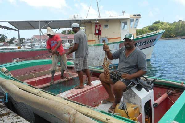 Image of Edmund and lobster fishers.