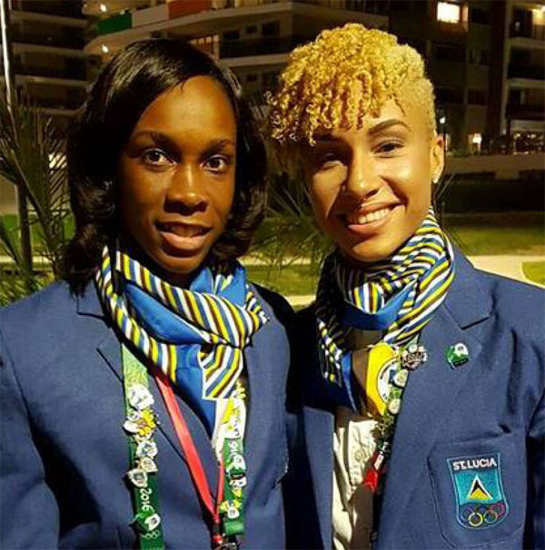 Image: (L-R) High Jumpers Levern Spencer and JeannelleScheper set to compete at the Games next week.