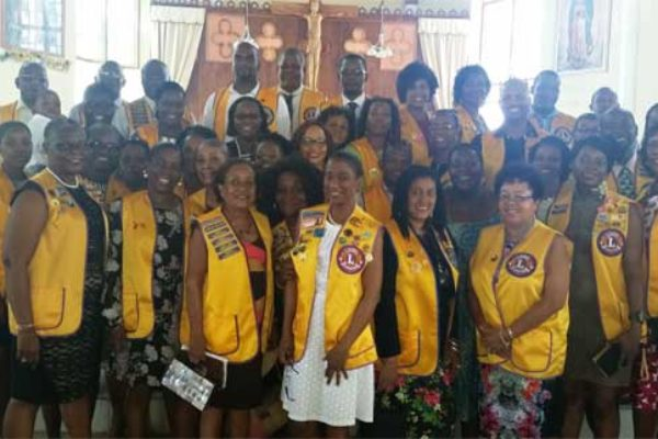 Image: Lions and Leos after Church Service.