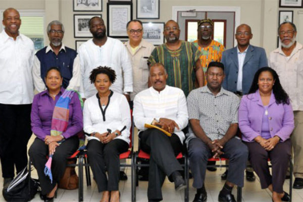 Image: Members of the CARICOM Reparations Commission (CRC) during a regional meeting in Barbados. Commission Chairman Sir Hilary Beckles (sitting at centre) is also Vice Chancellor of the University of the West Indies (UWI). Ambassador June Soomer (sitting 1st from left) and NRC Chairman Earl Bousquet (2nd from left standing) represented Saint Lucia at that meeting.