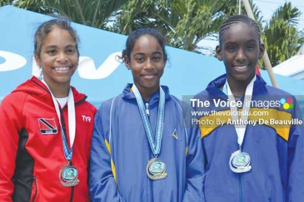 Image: St. Lucia's Naima Hazell won gold in the 9-10 age category and finish 3rd overall in the points table with 49 points (Photo Anthony De Beauville)