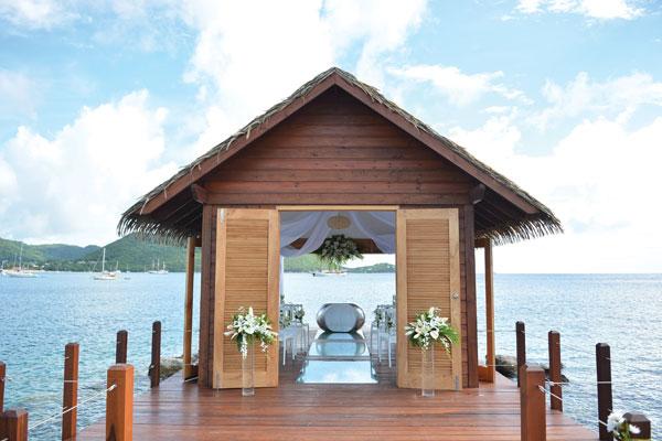 Image: The Sandals overwater wedding chapel