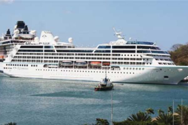 Image: Cruise ship arrivals fell by 16.2% during the January to May period when compared to last year. [PHOTO: Stan Bishop]