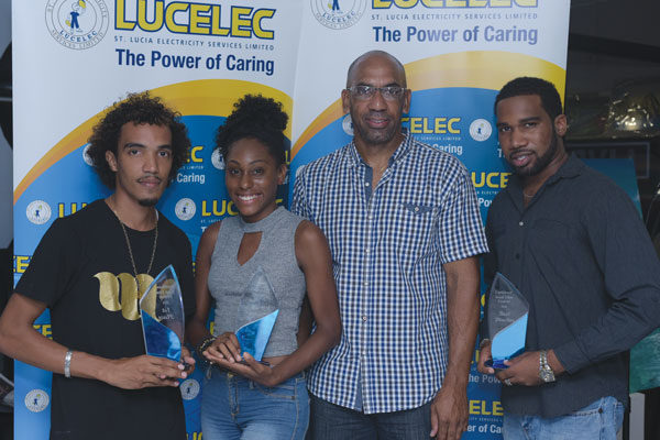 img: Colin Weekes with the winning team from Eden Gervais' Firefly productions.