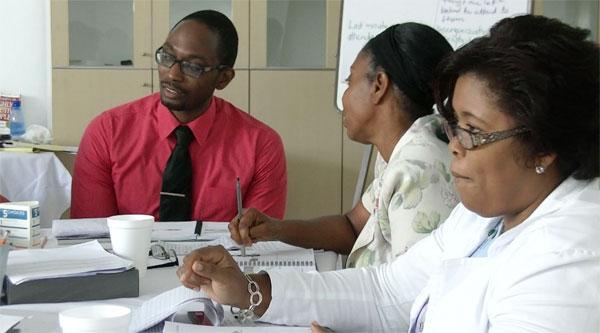 Image: Leadership training at Victoria Hospital.