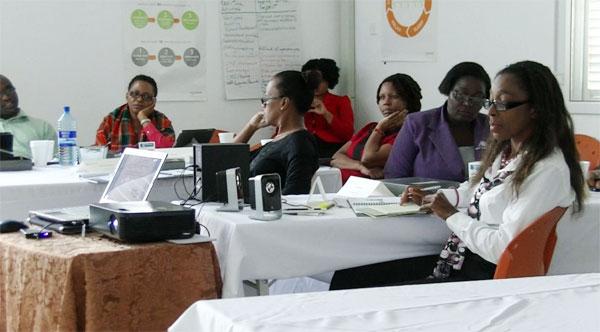 Leadership training at Victoria Hospital.