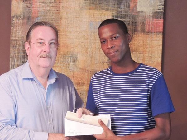 img: Leriche accepts his reward