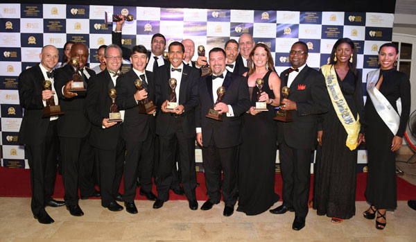 img: Sandals Resorts International General Managers and Executives celebrate a total of 15 wins at The 23rd Annual World Travel Awards 2016 Caribbean & North America Gala Ceremony.