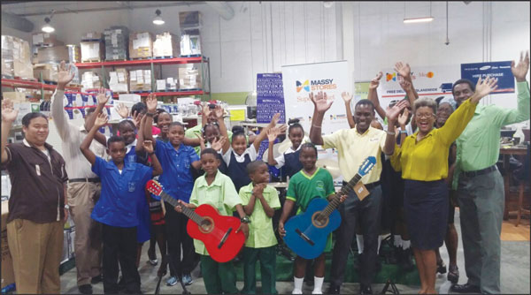img; Staff and students of Ave Maria, Gros Islet and Micoud Primary Schools, Gros Islet Secondary Schools and representatives of Massy Stores St Lucia.