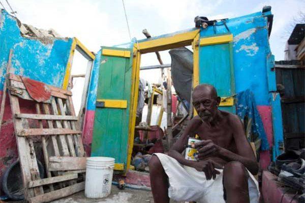 Image: A hurricane victim in Haiti.