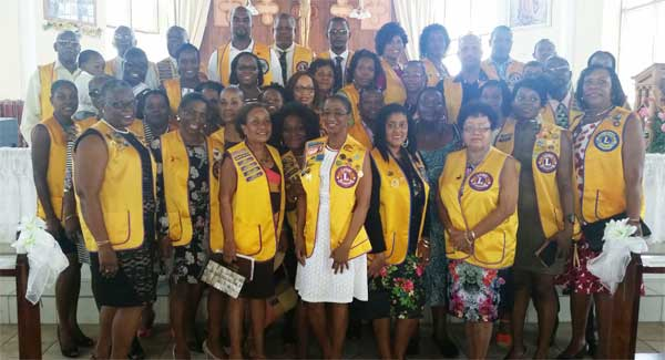 Image: Castries Lions join other Lions to celebrate mass at opening of Lionistic year.