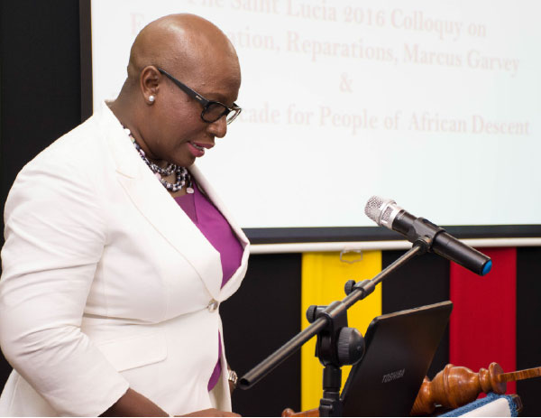 Image of Education Minister Dr Gale Rigobert