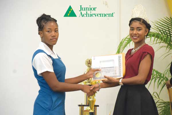 Image: Jeanest Isidore of Piaye Secondary School won 2nd. place, National Achiever of the Year.