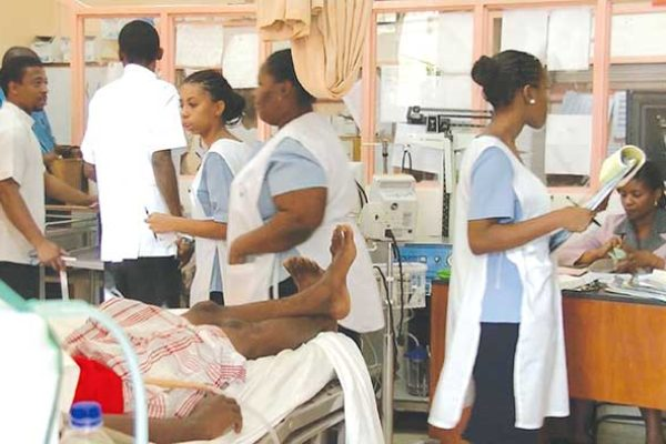 Image: Activity at Victoria Hospital