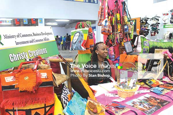Image: Christine Samuel's trendy bags were a big hit at last year's trade exhibition. [PHOTO: Stan Bishop]