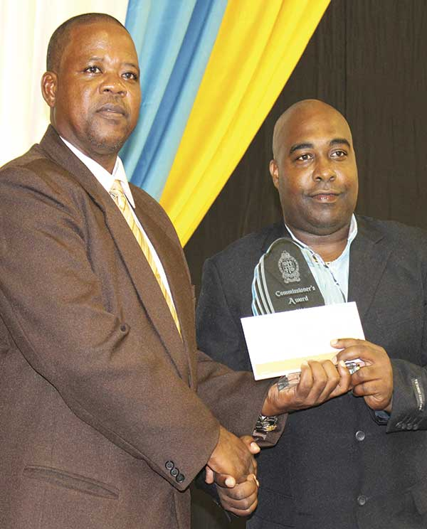 Image of Corporal 556 Alvin Prospere receiving a Special Award