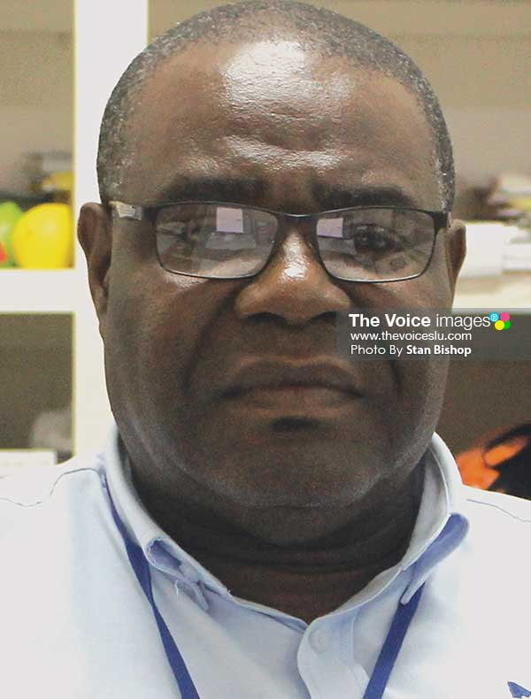 Image: Massy Stores (St. Lucia)'s Perishables Manager, Dunstan Demille. ([PHOTO: Stan Bishop]