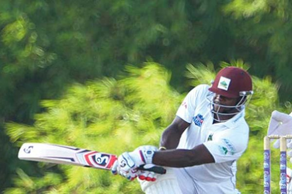 Image of Kyle Mayers in action (WICB Photo)