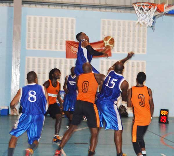 Image: Local basketball action.