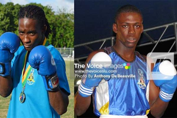 Image: (L-R) Nathan Ferrier and LyndellMarcelin.(PHOTO: Anthony De Beauville)