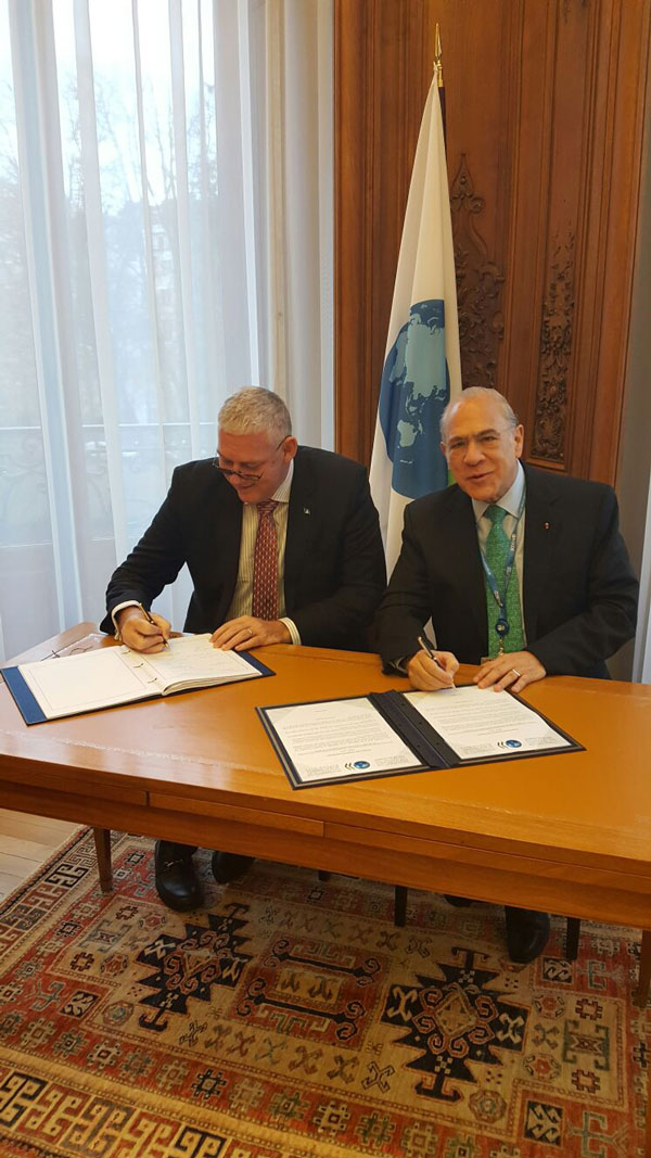img: OECD Secretary-General, Angel Gurria with Allen Chastanet, Prime Minister and Minister for Finance.