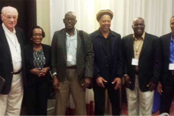 Image: Saint Lucia's delegation to the 4th Annual Caribbean Valuation & Construction RICS/IPTI Conference 2015 - Montego Bay, Jamaica. L to R : Ronald Gardner, Theresa Alexander-Louis, Egbert Louis, Celsus Baptiste, Tedburt Theobalds and Winsbert Felix.