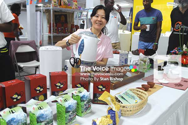 Image: Patrons never seem to get enough of the wide variety of Taiwanese teas offered at the exhibition. [PHOTO: Stan Bishop]