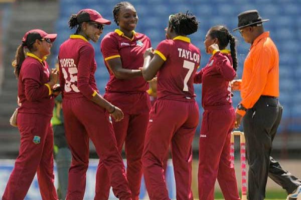 Image: The trumphant West Indies Women's team.