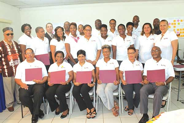 Image: Trainees with their diplomas