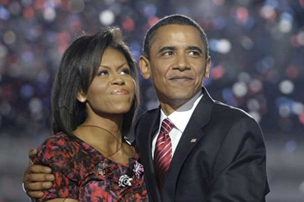 Image of the Obamas
