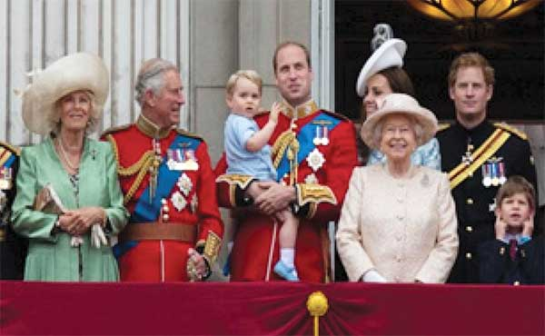 Image: Some members of the royal family