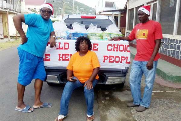 Image: A van loaded with goodies for Dennery elderly.