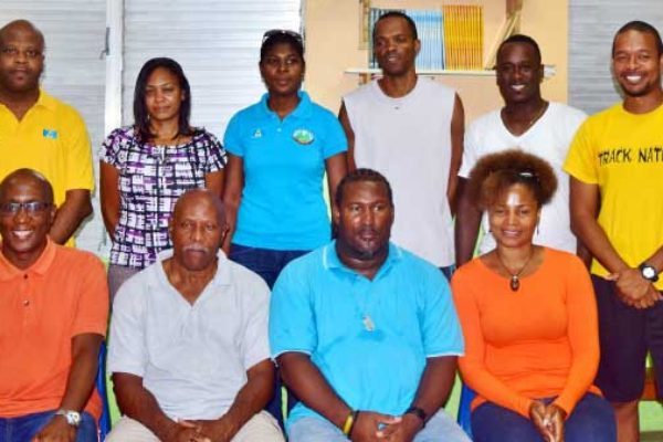 Image: Second from left in front row, SLAA President Andrew Magloire, with members of the new executive.
