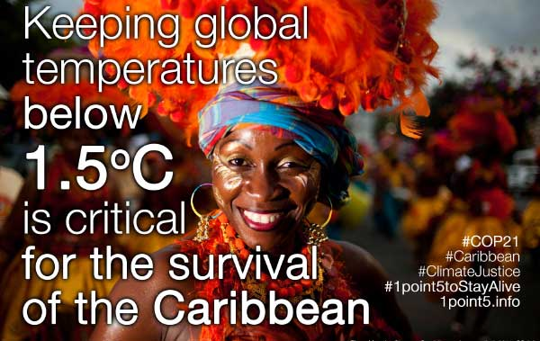 Image: Caribbean poster at COP21 last year.