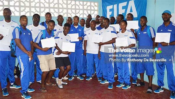 Image: Coaches show off their certificates at the end of the five-day course.   (Photo: Anthony De Beauville)