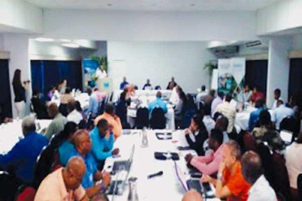 Image: Delegates attending CariCOF meeting (CMC photo)