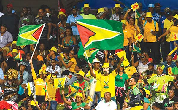 Image: Enthusiastic crowd at a CPL match