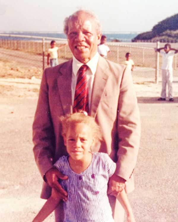 Image: Fiona Compton and her father, the late Sir John Compton.