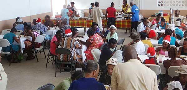 Image: Invitees enjoying the lunch provided