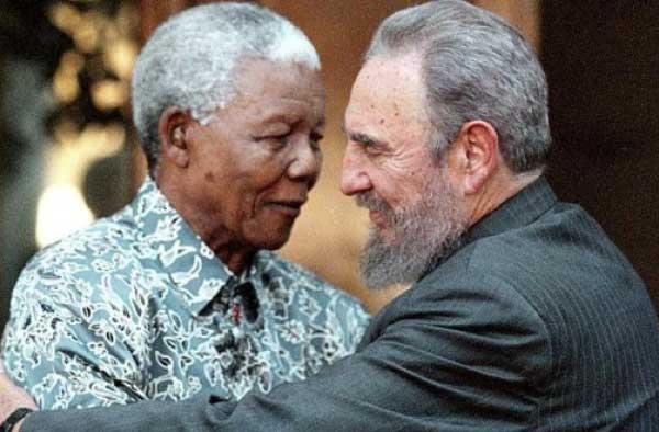 Image of Mandela and Castro