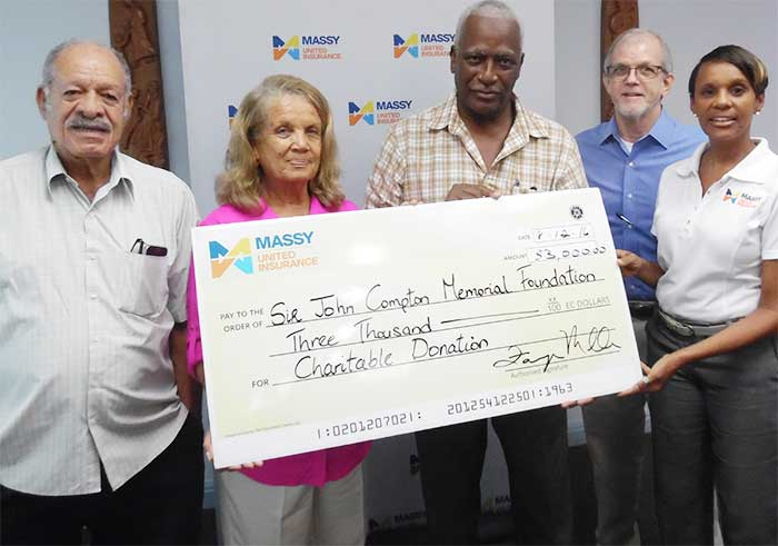 Image: Massy's presentation to the John Comption Foundation.